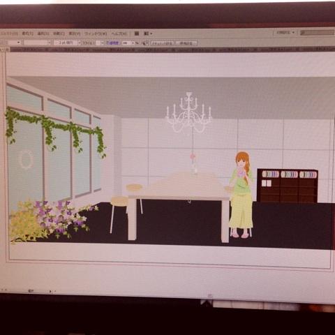 ah-flowers お店のイメージイラスト