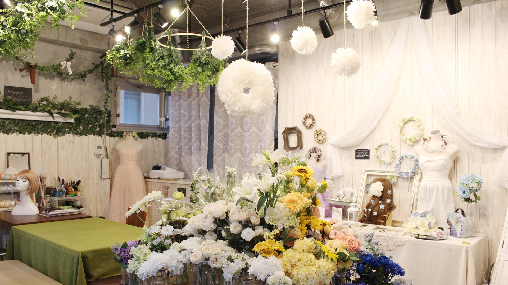 名古屋大須の造花オーダーレッスン