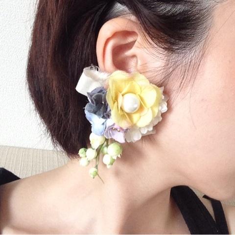片耳につけるボリュームイヤリング2