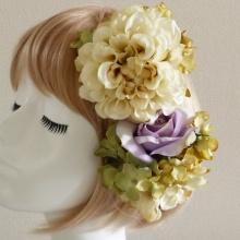 初めて造花=アーティフィシャルフラワーのヘッドドレス