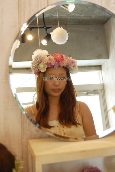 ウェディング花冠教室ガーリーテイストの花冠4