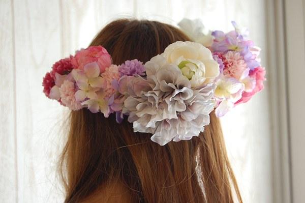 ウェディング花冠教室ガーリーテイストの花冠2