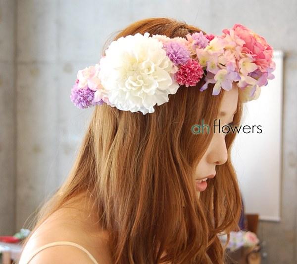 ウェディング花冠教室ガーリーテイストの花冠