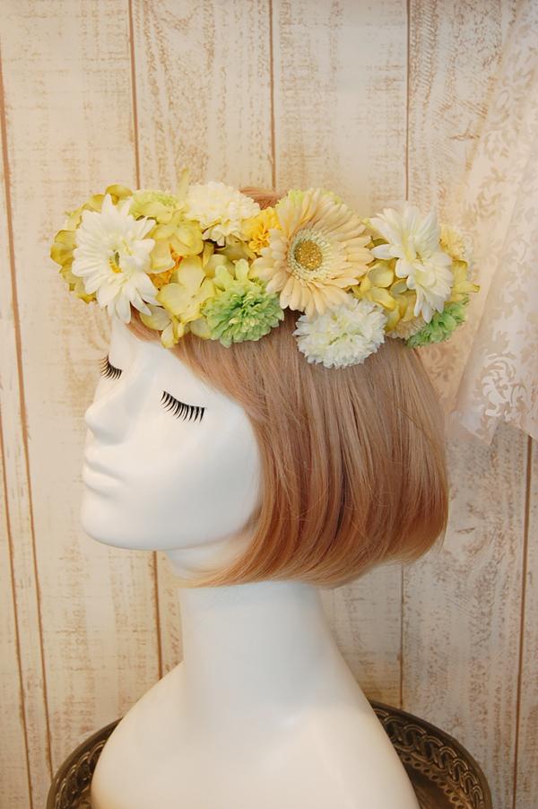 花冠教室 元気カラーの可愛らしい花冠2