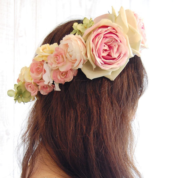 花冠教室でボリューム感ある花冠ご希望