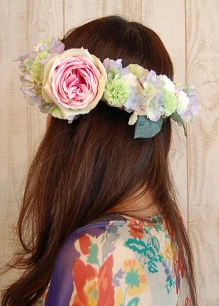 クールビューティーな花冠 ボリューム・アクセントをつけた素敵な花冠2