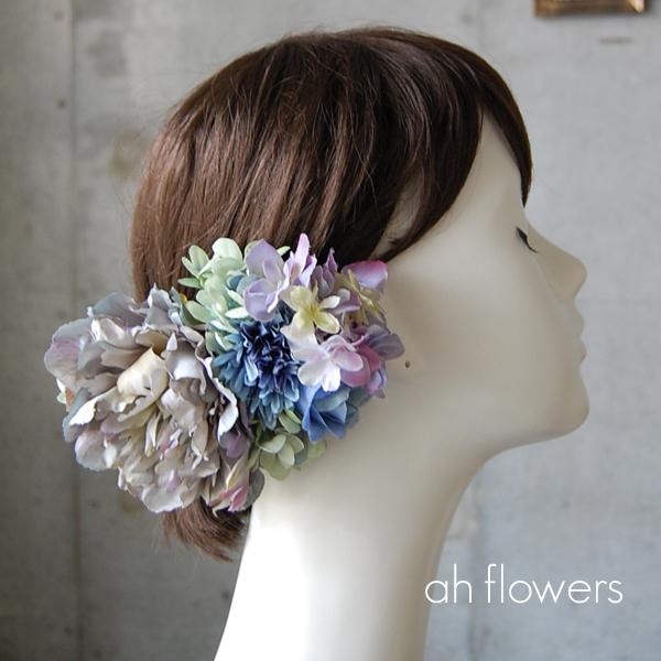 結婚式和装の洋髪や成人式・卒業式におすすめのピオニーの髪飾り