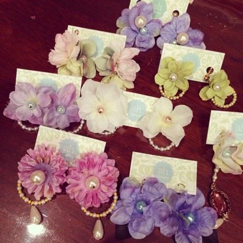 名古屋大須ah flowersのフラワーアクセサリー新作