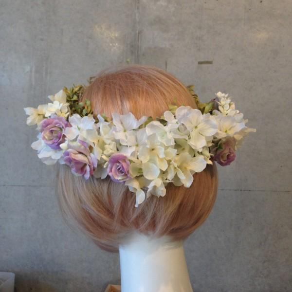 アンティークパープル花冠