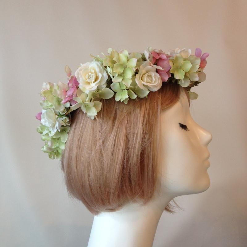 アンティークピンクの花冠1